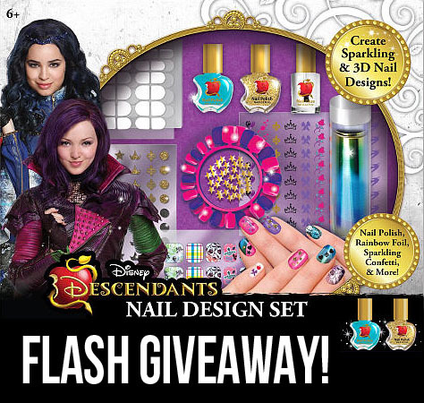 descendants nail art set giveaway