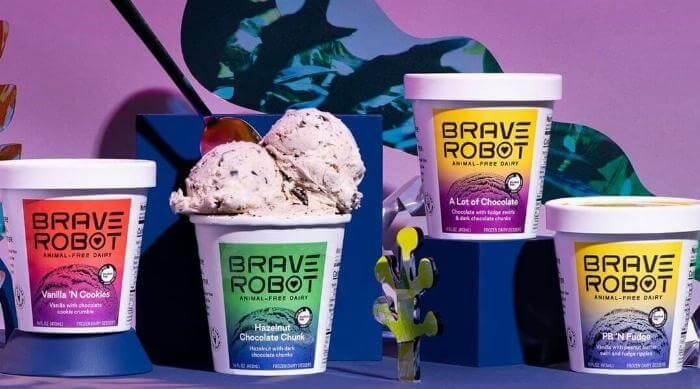 Instagram @braverobot mixed ice creams