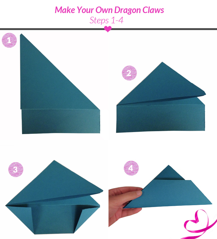 Fold Dragon Claw Tutorial Steps 1 To 4