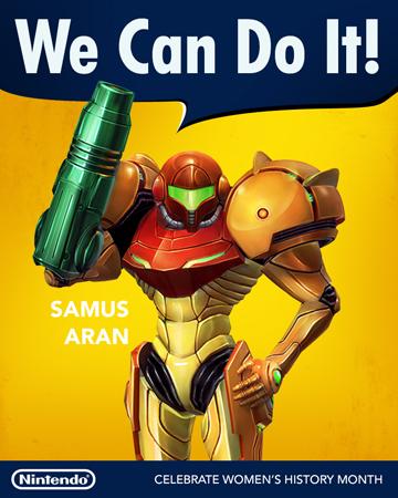 samus aran women's history month poster