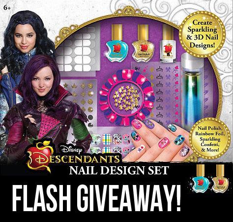 descendants nail art set giveaway