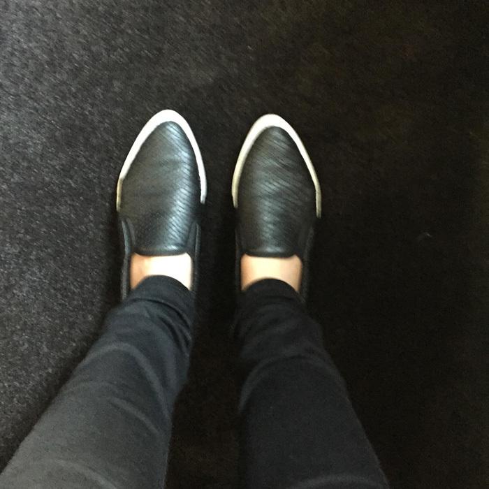 lauren giraldo point toed sneakers