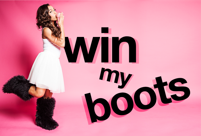 asia monet ray fuzzy wuzzy boots giveaway