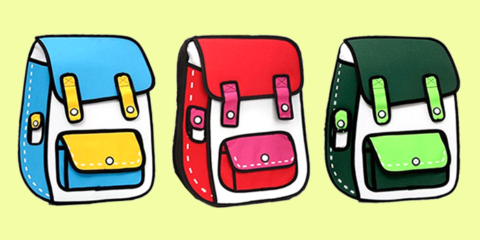 cartoon backpack giveaway options