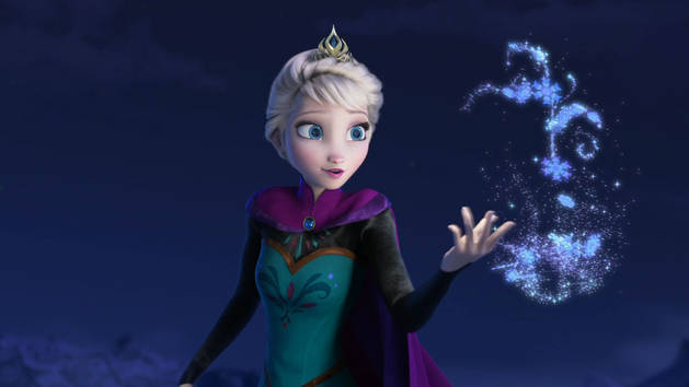 "Elsa from Frozen during ""Let It Go"""
