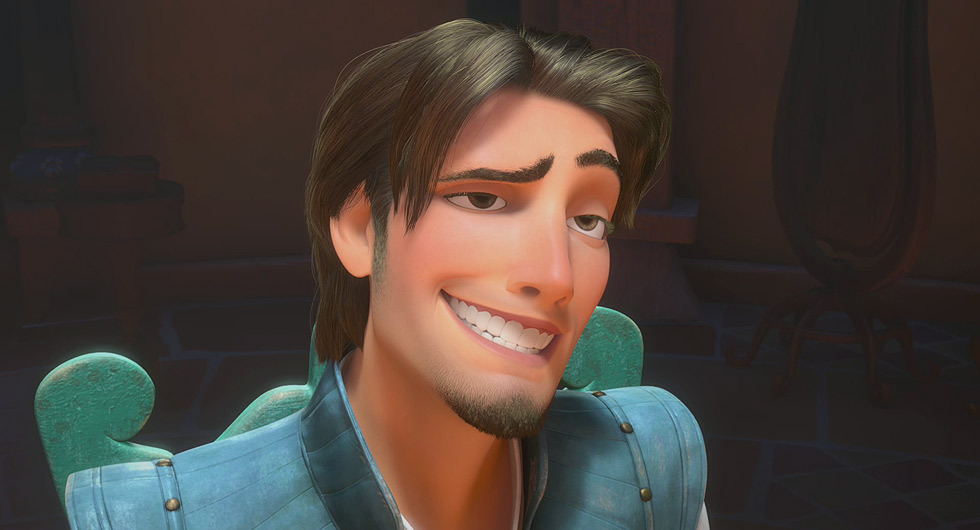 Flynn Rider from Tangled smiling