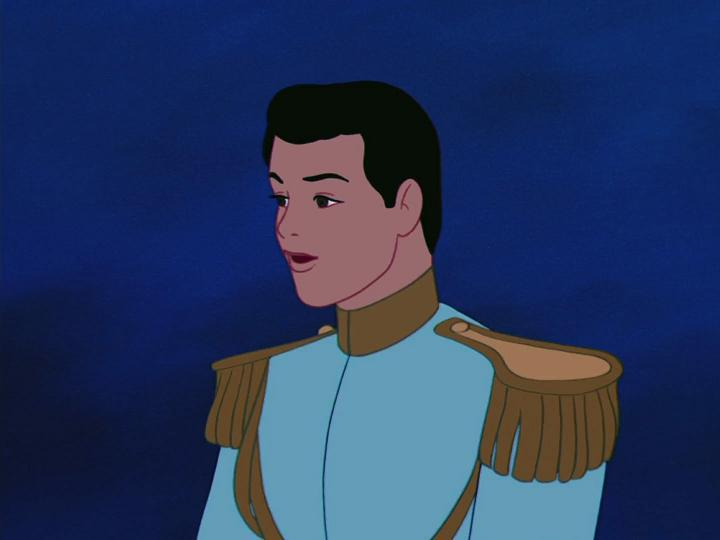 Prince Charming from the cartoon version of cinderella