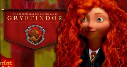 Merida in the Gryffindor house