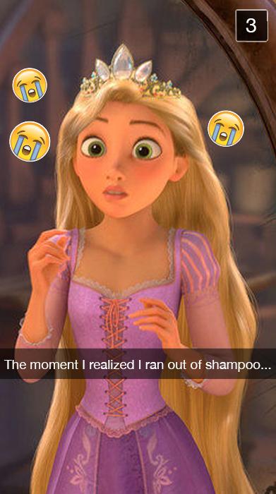 Rapunzel Snap Chat