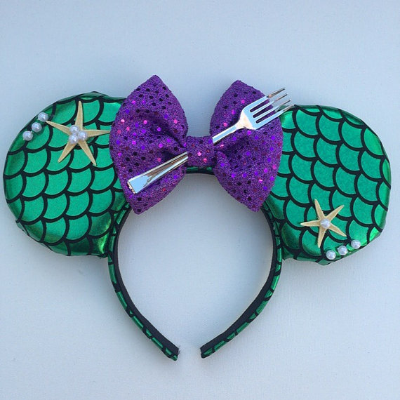 Disney Mickey Mouse Ears that are Little Mermaid themed