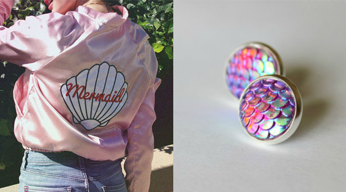 Mermaid jacket and earrings