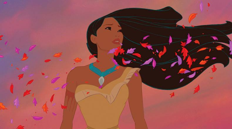 Pocahontas in the colors of the wind