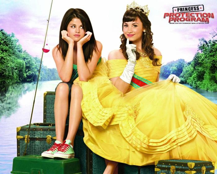 Princess Protection Program poster with Selena Gomez and Demi Lovato