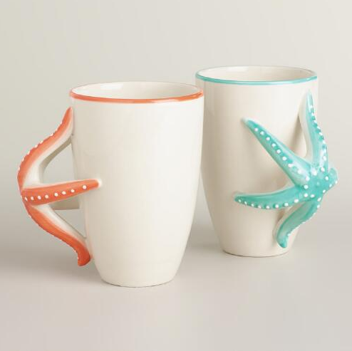Star Fish Mugs from World Market