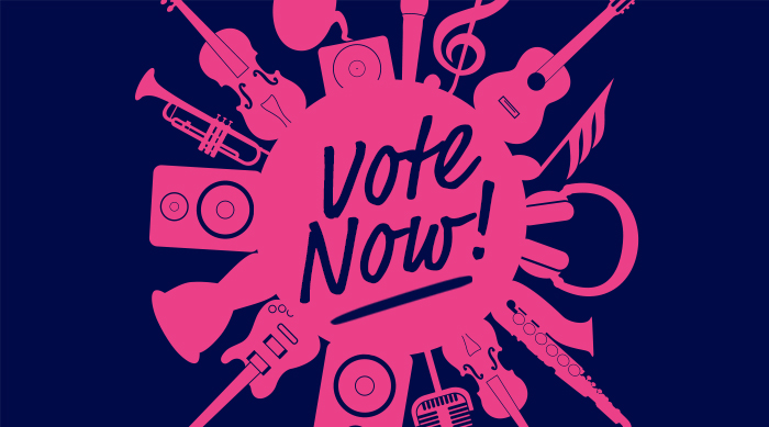 Vote Now Graphic for Top Female Artist
