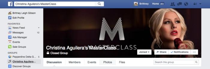 Christina Aguilera Facebook Group