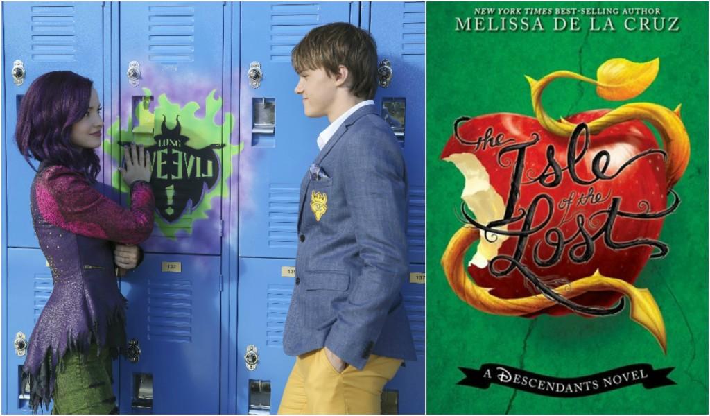 Dove Cameron in the Descendants and the Descendants novel