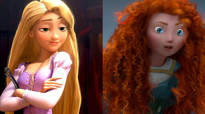 Rapunzel and Meredith Hair