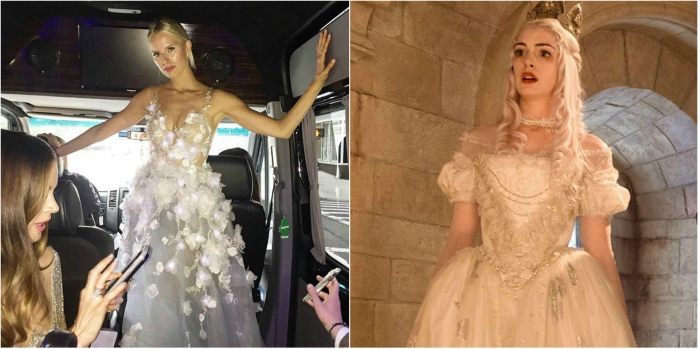 Karolina Kurkova looks like the White Queen from Alice in Wonderland