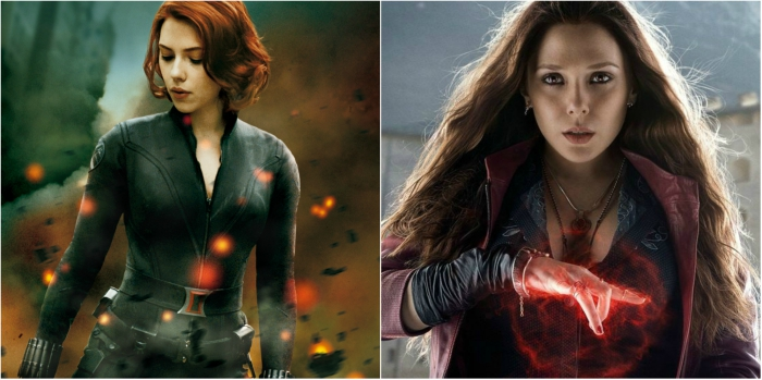 Black Widow and Scarlet Witch from the Avengers