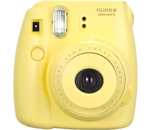 Fujifilm Instax Mini 8 yellow polaroid camera