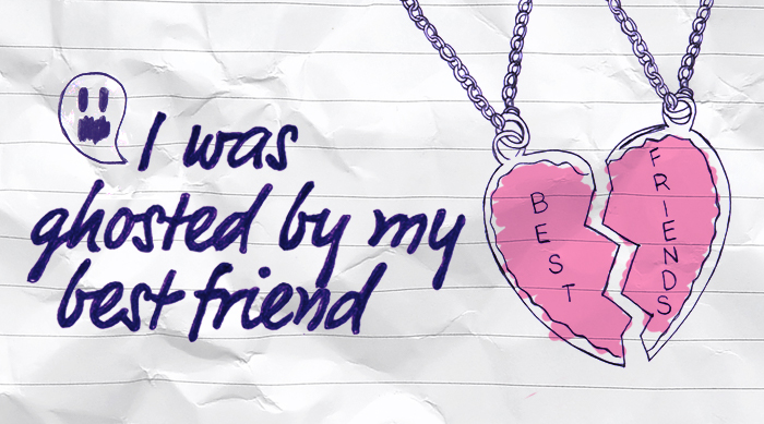 I was ghosted by my best friend image with best friend necklace