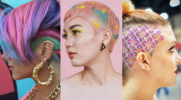 Over-the-top undercuts and hair stencils