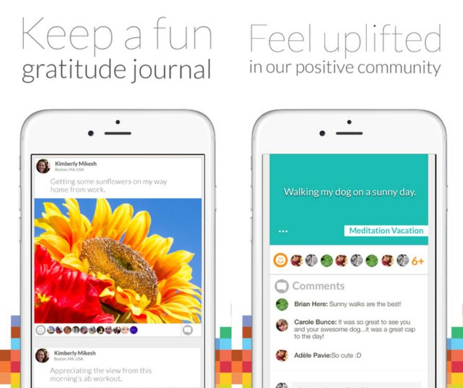 Happier app screenshots