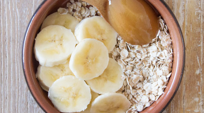 Honey banana oatmeal mask