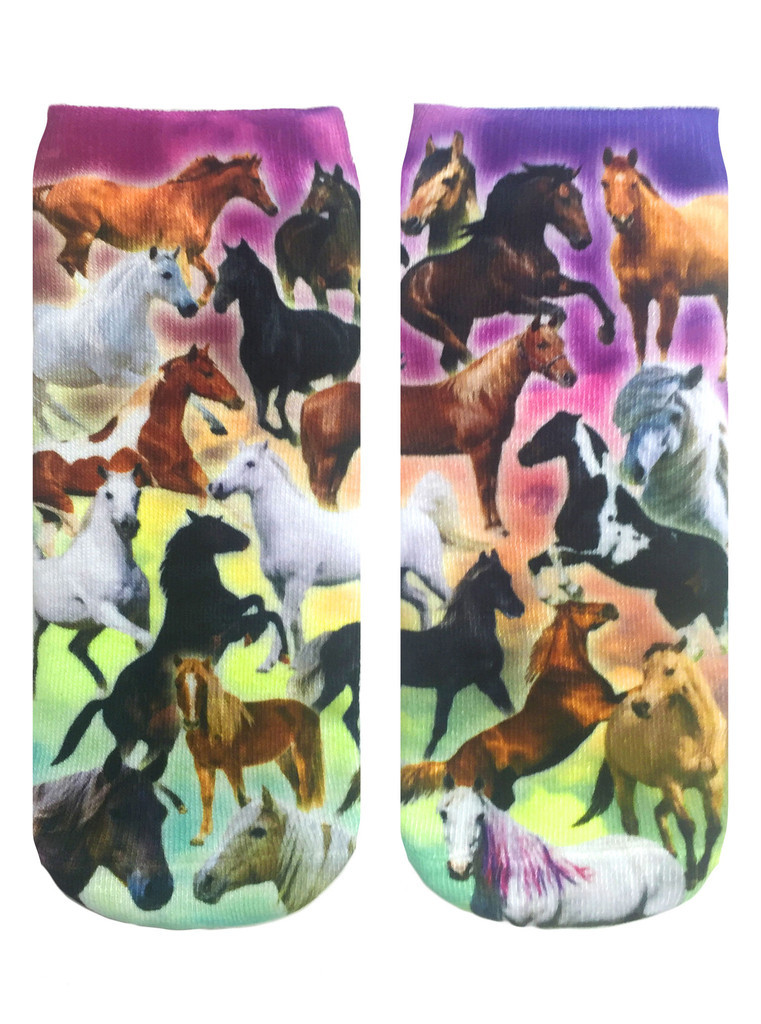 Horse-themed ankle socks from Living Royal