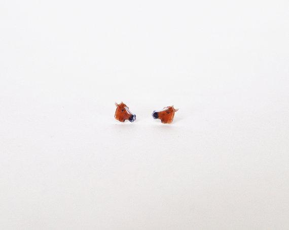 Horse earrings from Etsy