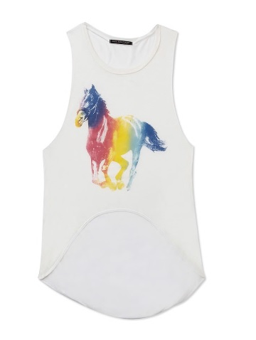Colorful horse tank top from Froever 21