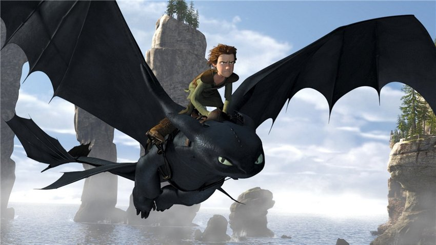 How to Train Your Dragon Screen shot hiccup riding toothless