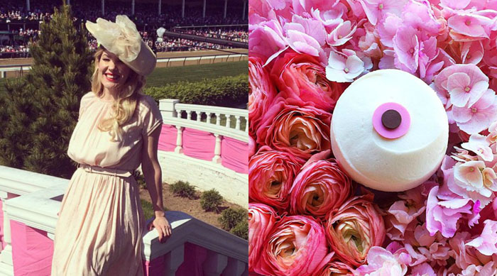 Emily West at the Kentucky Derby and a Sprinkles cupcake
