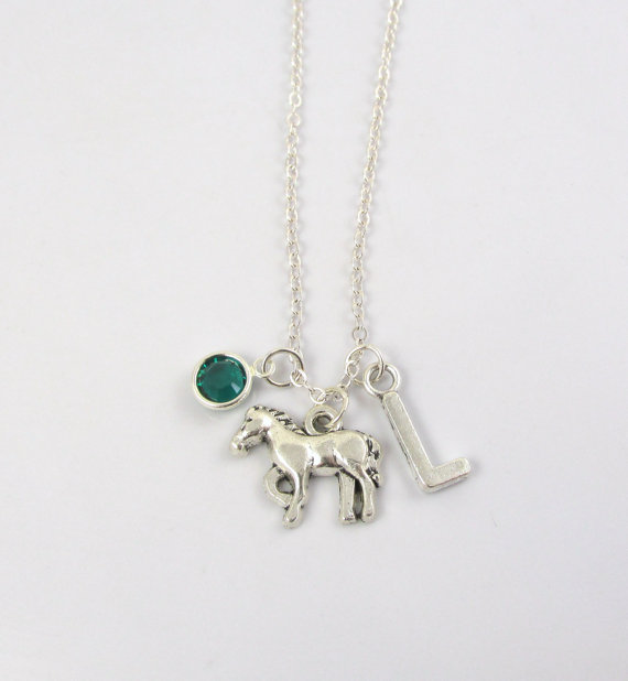 Personalized horse necklace from Etsy