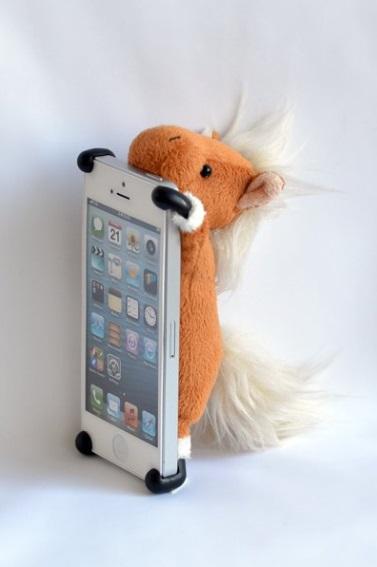 Plush horse iPhone case from Amazon