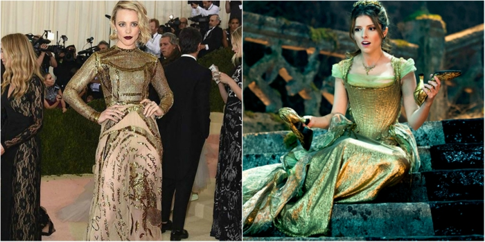 """Rachel McAdams looks like Cinderella in her gold dress from """"Into the Woods"""""""