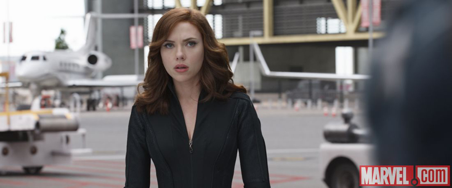 Scarlett Johansson as Black Widow in Captain America: Civil War via Marvel