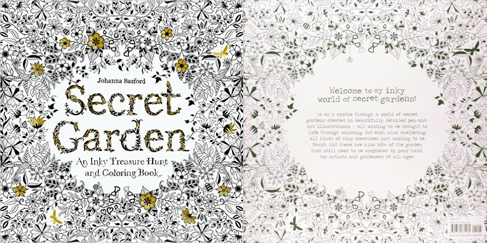 secret garden coloring book - My Secret Garden Coloring Book