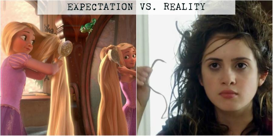 Rapunzel and Laura Marano brushing hair