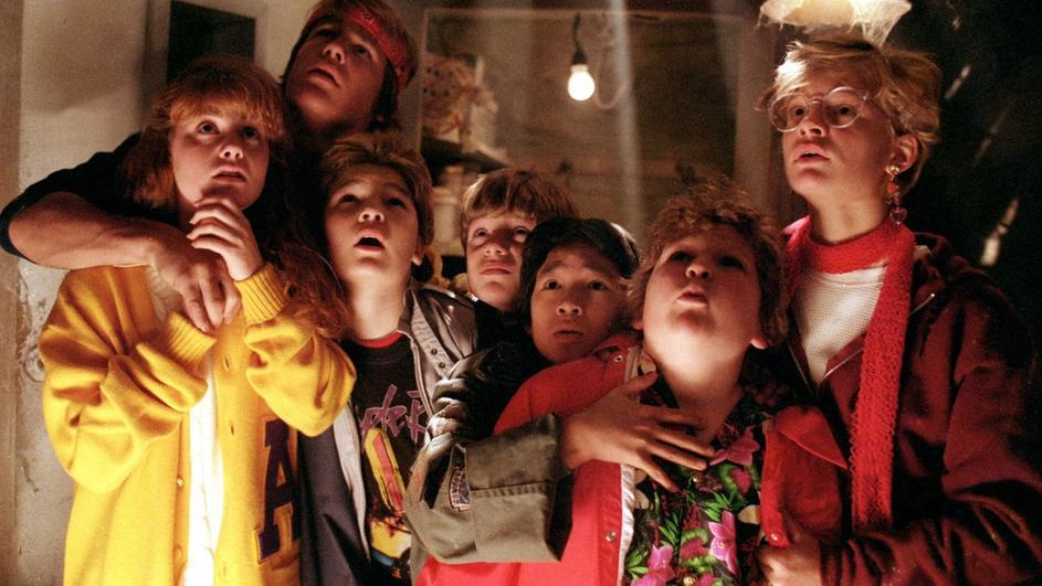 A screen shot from the 1985 film The Goonies
