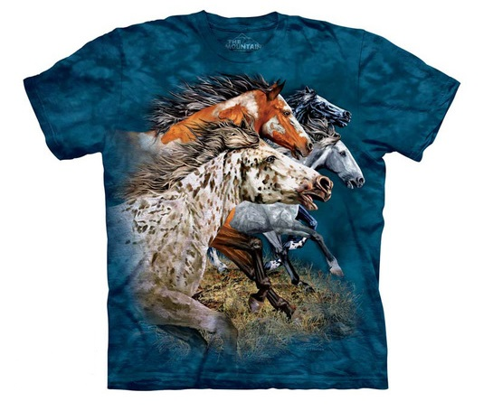 Running horses shirt from The Mountain