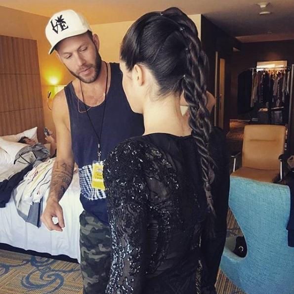 Vanessa Marano getting ready for the 2016 Radio Disney Music Awards