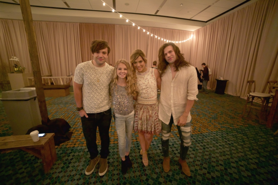 Tegan Marie in the Green Room at CMA Fest with The Band Perry