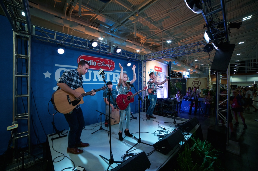 Tegan Marie performing live on the Radio Disney Country Stage at CMA Fest