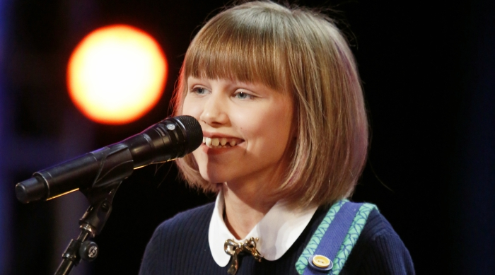 12-year-old America's Got Talent contestant Grace VanderWaal singing during her audition