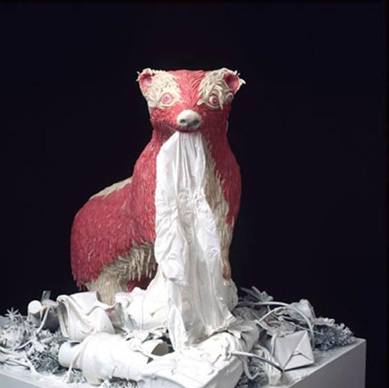 Badger bubble gum sculpture