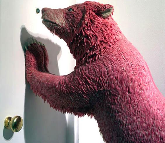 Bear bubble gum sculpture
