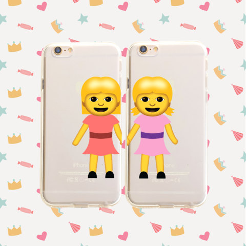 BFF emoji cell phone cases