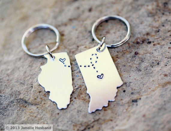 BFF Key Chain with states